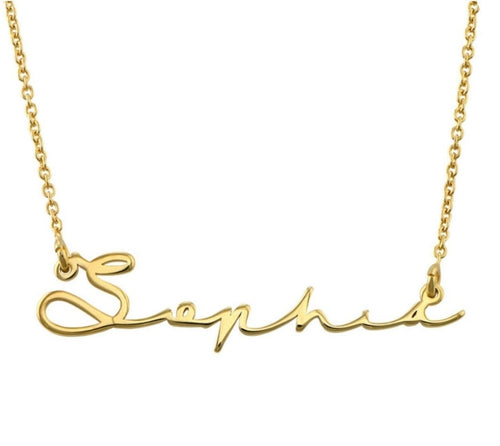 Personalised Signature Necklace - Prince's Boutique