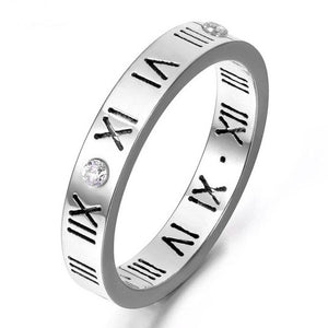Silver Roman Numeral Band Ring - Prince's Boutique