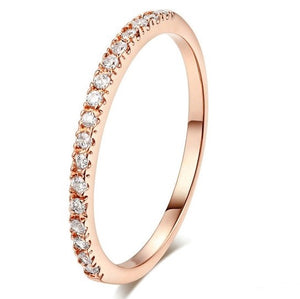 18K Rose Gold Plated Keep It Simple Slim Band Ring - Prince's Boutique