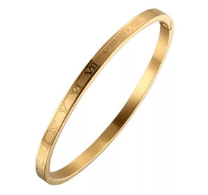Roman Numeral Bangle - Phase Two - Prince's Boutique