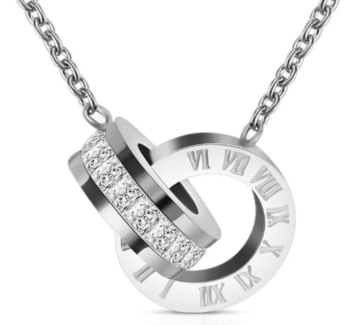 Double Up Roman Numeral Necklace - Prince's Boutique