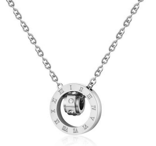 Roman Numeral Pendant Necklace - Prince's Boutique