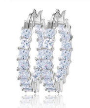 Crystal Clear Mini Hoop Earrings - Prince's Boutique