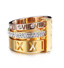 Triple Stacked Roman Numeral Band Ring - Prince's Boutique