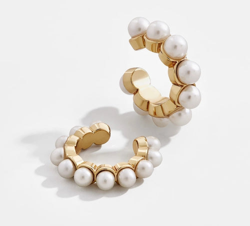 White Pearl Non-Pierce Cuff Earrings - Prince's Boutique