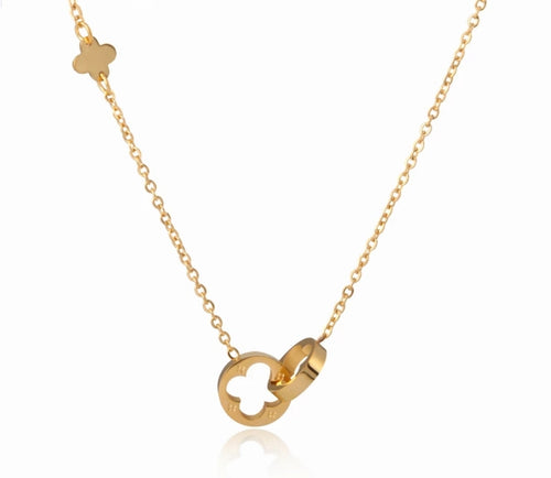 Lucky Clover Thin Chain Necklace