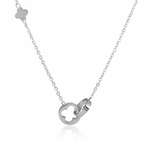 Lucky Clover Thin Chain Necklace - Prince's Boutique