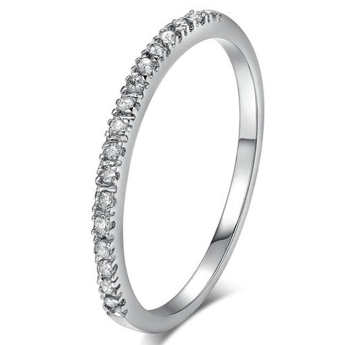 White Gold Plated Keep It Simple Thin Band Ring - Prince's Boutique