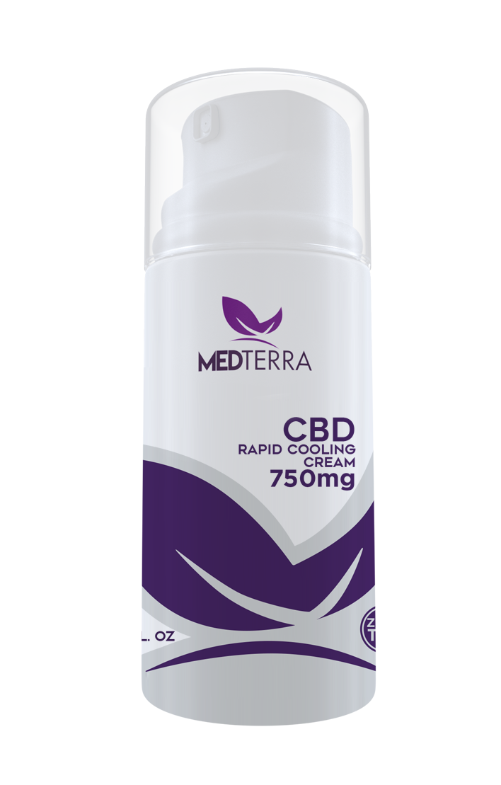 Medterra 750mg CBD Topical Cooling Cream | THC Free! - PrimaHemp