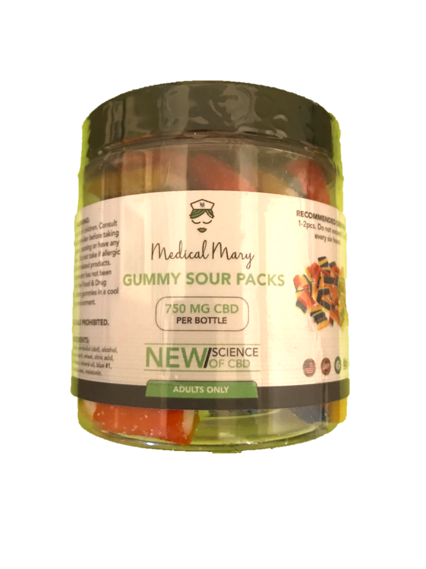 Medical Mary 750mg CBD Gummy Sour Packs | THC Free! - PrimaHemp