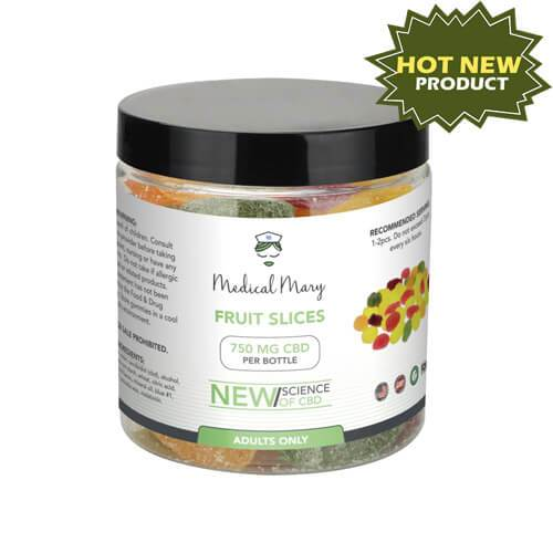 Medical Mary 750mg CBD Gummy Fruit Slices | THC Free! - PrimaHemp