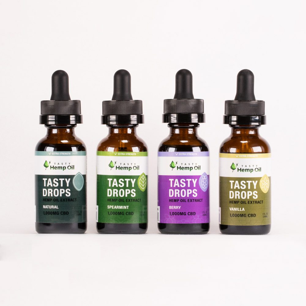 Tasty Hemp Oil Tasty Drops Extra Strength 1000mg 30ml CBD Oil Tincture - PrimaHemp