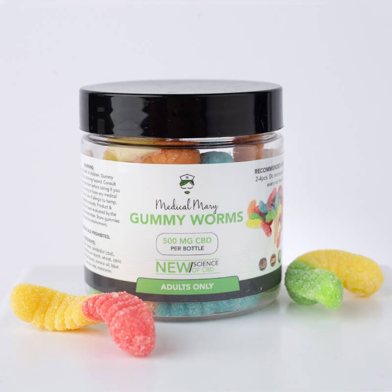 Medical Mary 500mg CBD Gummy Worms | THC Free! - PrimaHemp