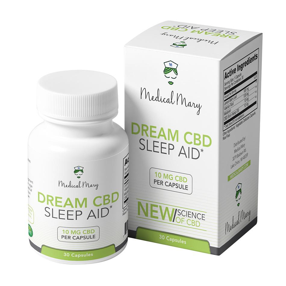 Medical Mary DREAM CBD 10mg Capsules | THC Free! | Sleep Aid - PrimaHemp