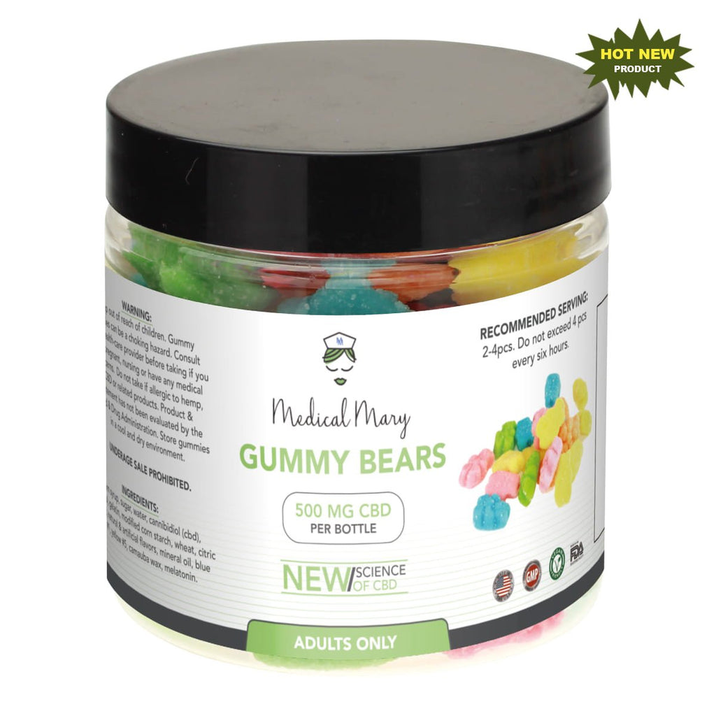Medical Mary 500mg CBD Gummy Bears | THC Free! - PrimaHemp