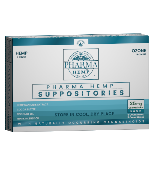 Pharma Hemp 25mg 5ct CBD Suppository and 5ct Ozone Suppository - PrimaHemp