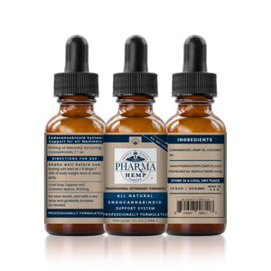 Pharma Hemp 550mg 30ml Holistic CBD Pet Tincture | Professional Veterinary Strength - PrimaHemp
