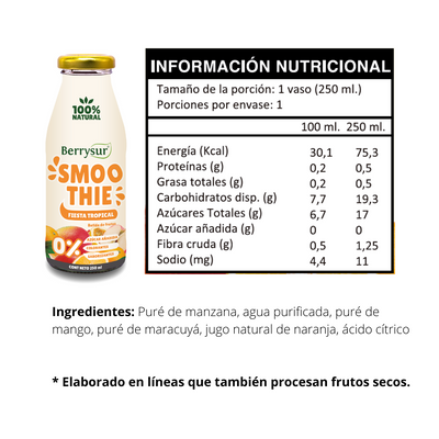 Smoothie Fiesta Tropical 250 ml. - Pack 12 unidades