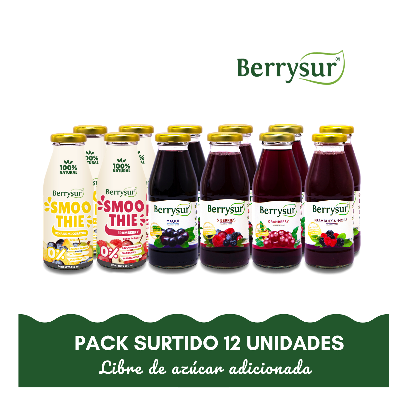 Mix Jugos y Smoothies - Pack 12 unidades