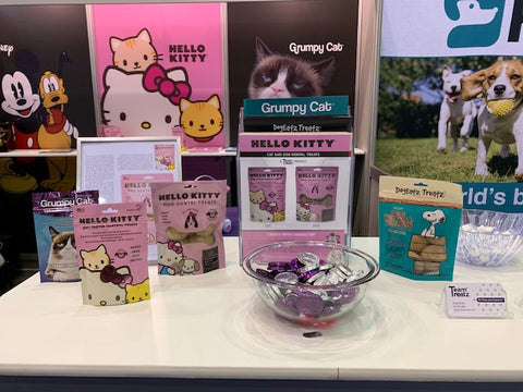 Team Treats display at Booth #6355 at the Global Pet Expo, Orange County Convention Center Orlando, FL