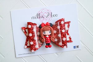 Deluxe Bow / Minnie Mouse Girl in Red