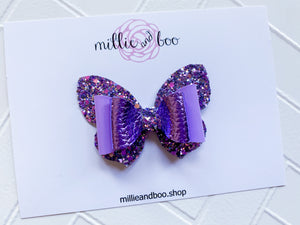 Butterfly Bow / Purple Glitz