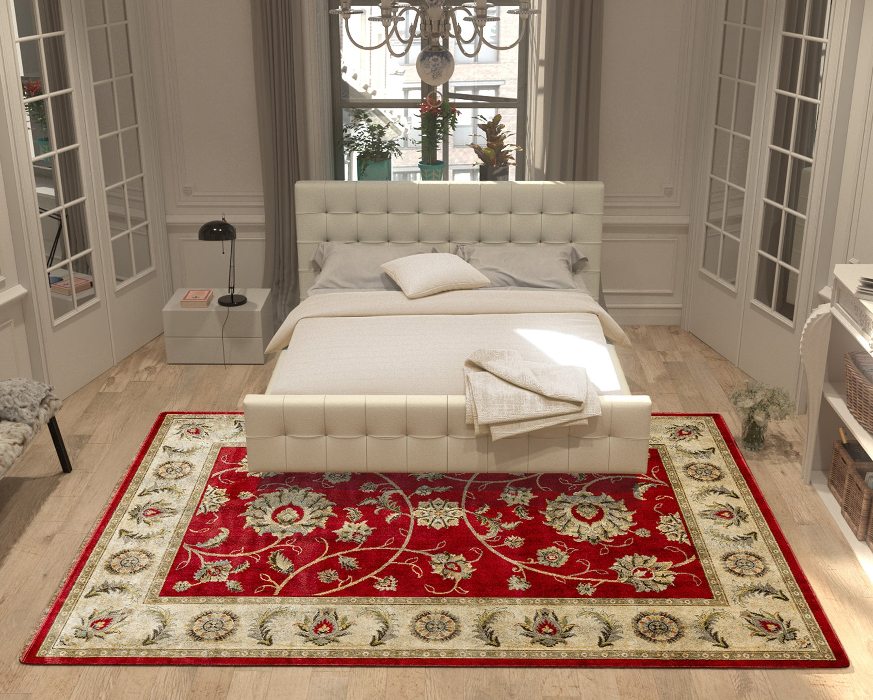 Pairing Rugs with Your Bed: A Bedroom Rug-Sizing and Placement Guide