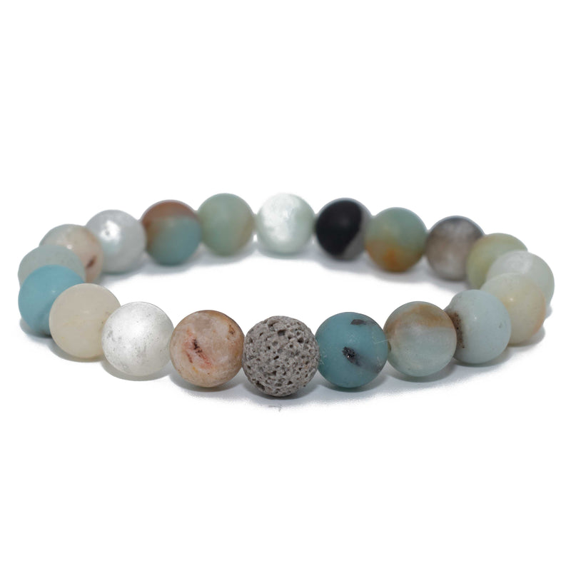Amazonite & Grey Lava