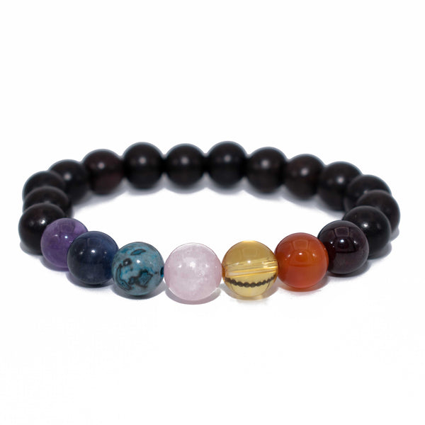 Chakra Bracelet with Ebony Beads