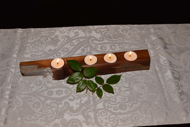 Cedar Tealight Holder WHTL003
