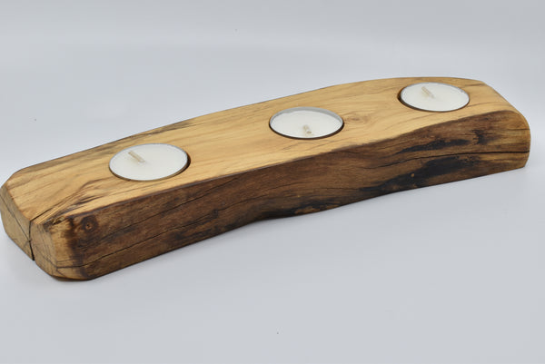 Apple Wood Tealight Holder WHTL021