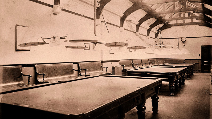 picture of the billiards room at the arlington baths