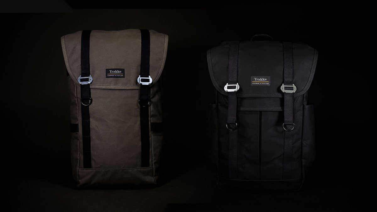 Trakke Waxed Canvas Backpacks - Assynt Backpack and Bannoch Backpack