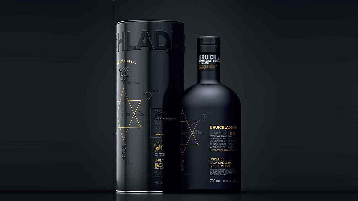 A bottle of Bruichladdich's limited edition Black Art Scotch Whisky
