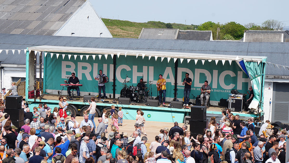 Bruichladdich stage at the Feis Ile whisky festival in Scotland