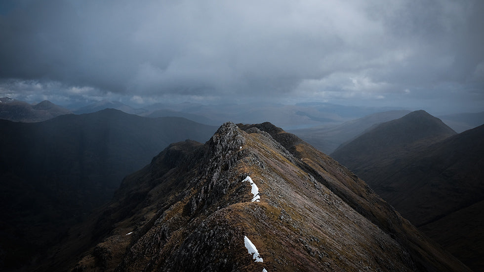 The ridge line of the three sisters in Glencoe