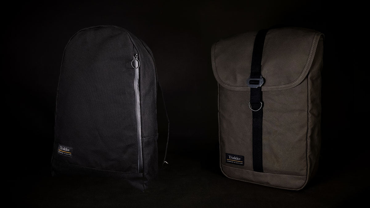 Trakke Waxed Canvas Arkaig Daypack and Fingal Daypack