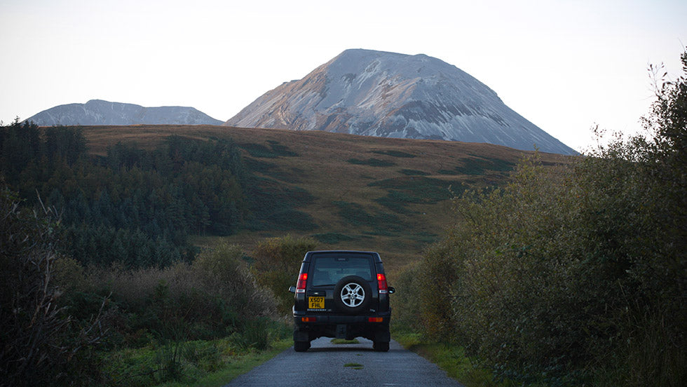 A land rover discovers the Isle of Jura