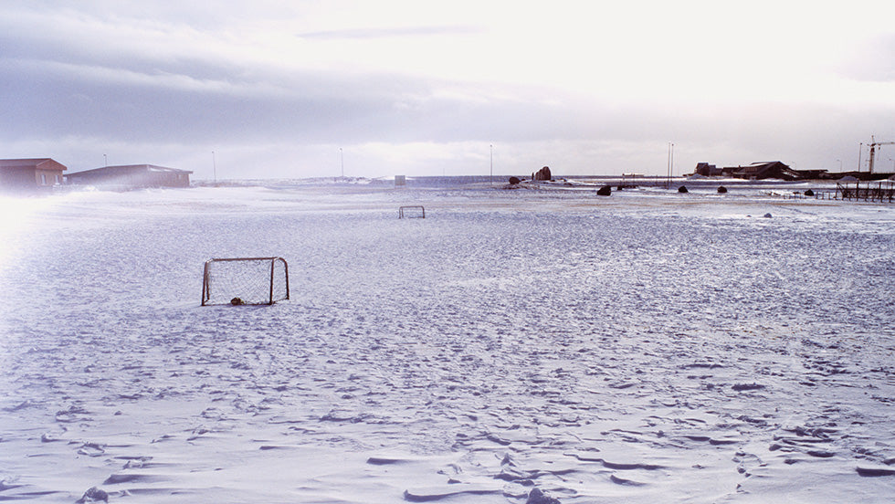 A remote football pitch in Iceland