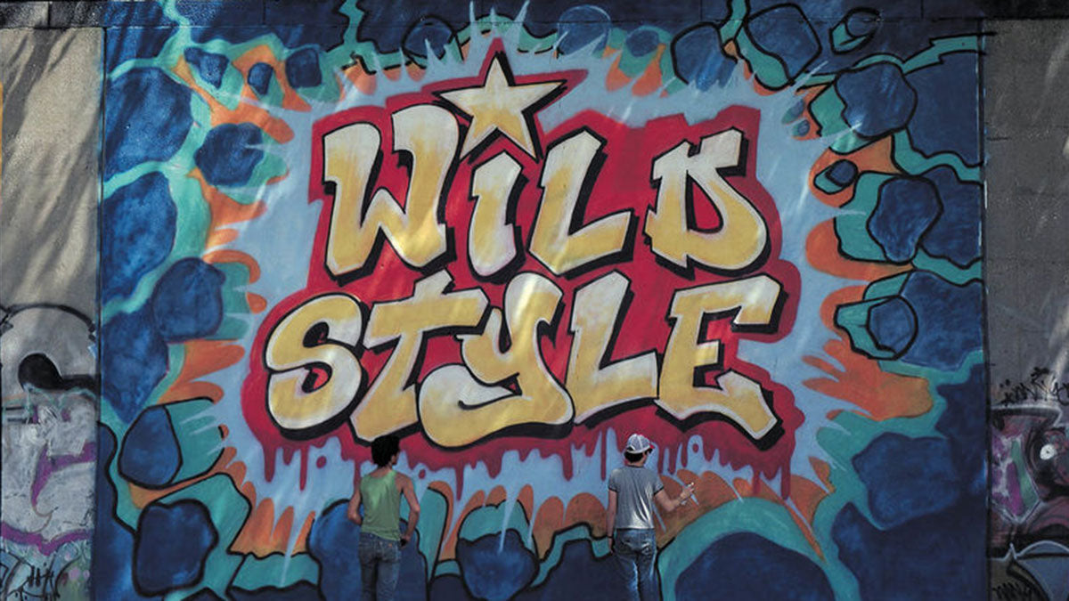 A mural found in Wild Style - a graffiti film from the 1990s