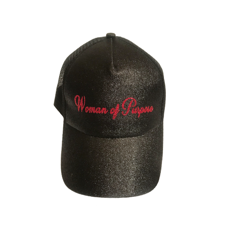 Women of Purpose Strapback Ponytail Glitter Hat - OJBClothingstore