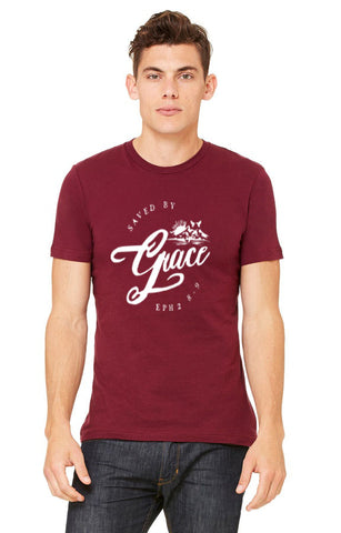 Saved by Grace Christian T Shirt - OJBClothingstore