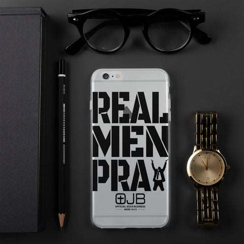 Real Men Pray iPhone Case - OJBClothingstore