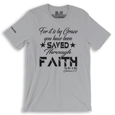 Saved by Grace Through Faith T Shirt - OJBClothingstore