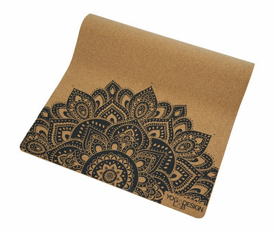 Esterilla Cork Mandala Black 3,5 mm Yoga Design Lab