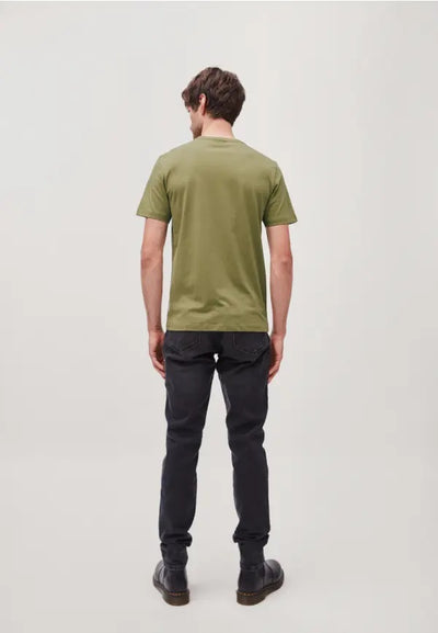 Camiseta JAAMES CROOKED LINES Military Green