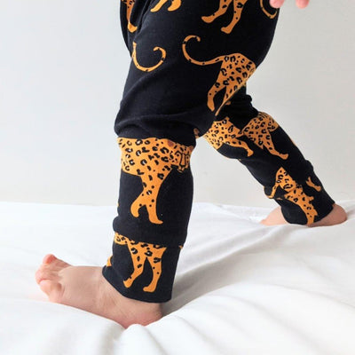 Leggings Leopard Negro