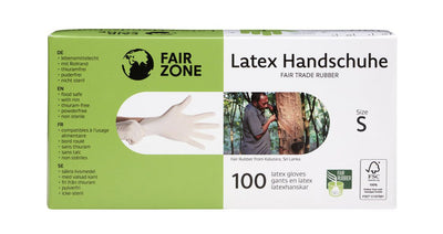 Guantes desechables de látex 100% natural FSC, Pack 100ud