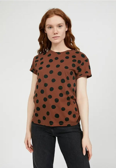 Camiseta Naalina Big Dots Cacao