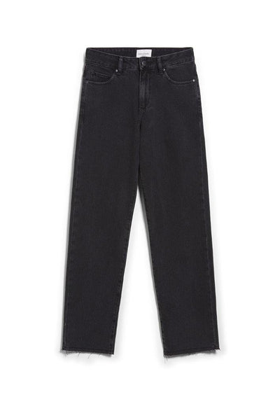 Jeans FJELLAA CROPPED 5 Pockets Negro-gris